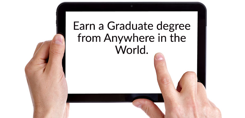 distance learning graduate degree tablet